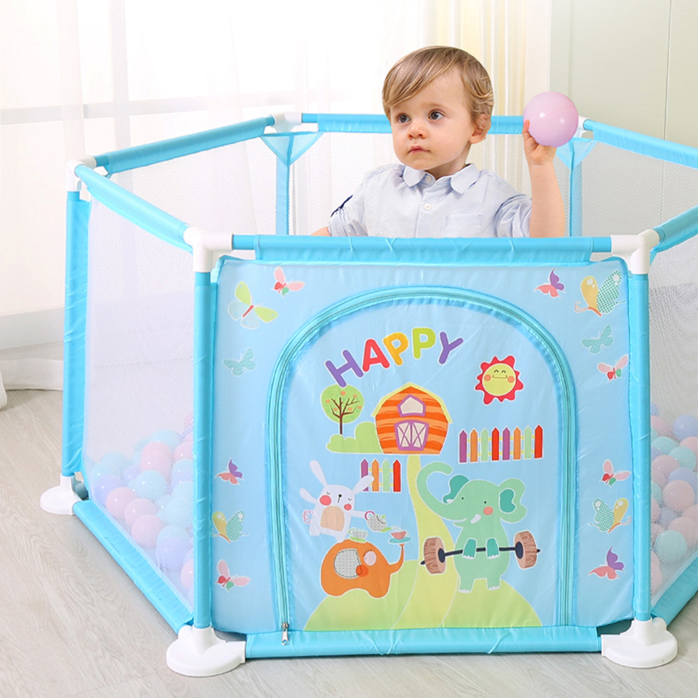 New 6 Safety Play Center Yard Baby Playpen Kids Home